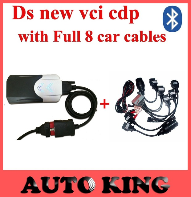 Ds tcs cdp pro с bluetooth + полный набор 8 шт. автомобилей кабели для всех моделей cdp pro сканер работа автомобилей грузовых obd2 диагностический DHL бесплатно