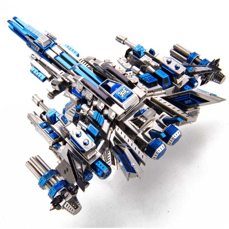 2018 new Microworld Pilot 1 battleship model DIY laser cutting Jigsaw puzzle fighter model 3D metal Puzzle Toys for adult Gift