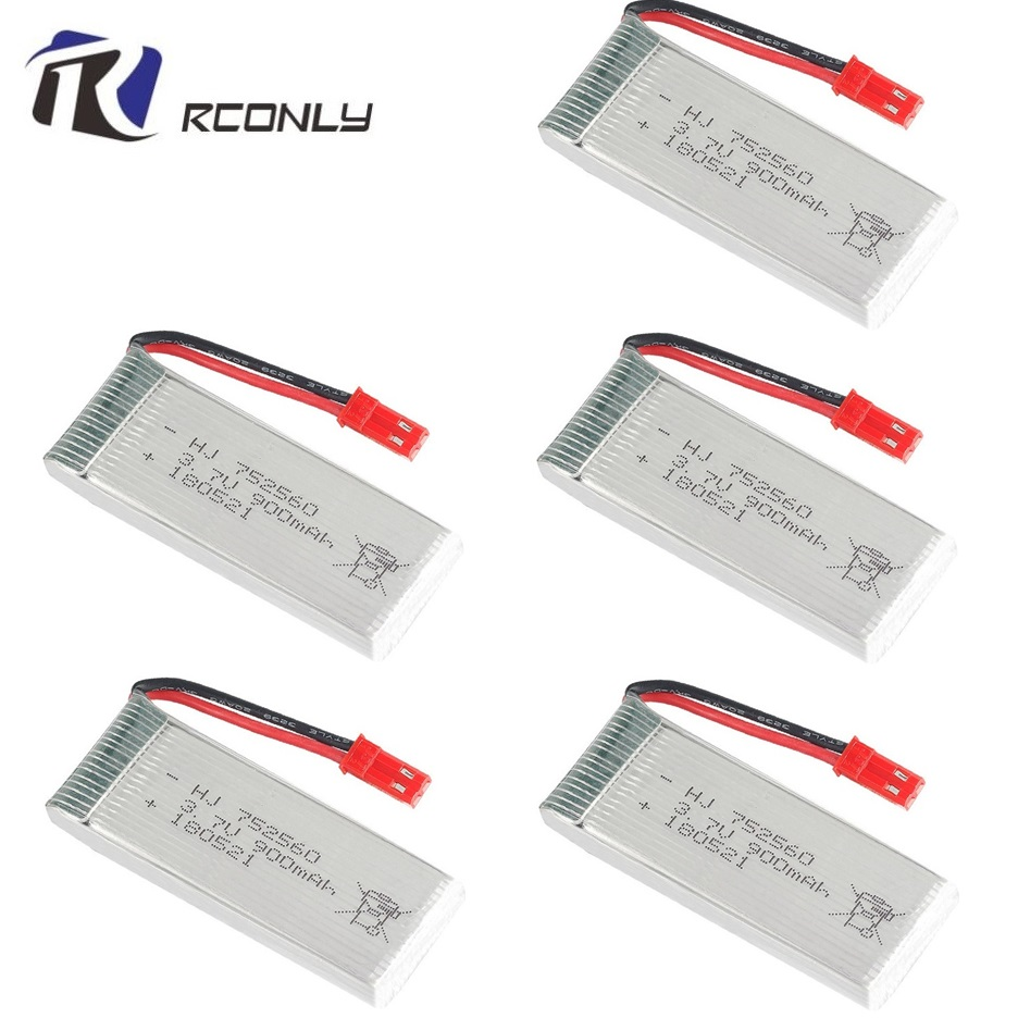 900mah 3.7V lipo Battery For 8807 8807W A6 A6W M68 Rc Quadcopter Spare Parts Accessories Rc Drones 3.7v battery <font><b>752560</b></font> 1-5pcs image