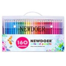 Дешевые Newdoer 160 Цвета дерево Цветные карандаши комплект Ляпис de Cor Книги по искусству ist картина маслом Цвет карандаш для школы рисунок эскиз товары для рукоделия