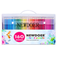 NEWDOER 160 Colors Wood Colored Pencils Set Lapis De Cor Artist Painting Oil Color Pencil For