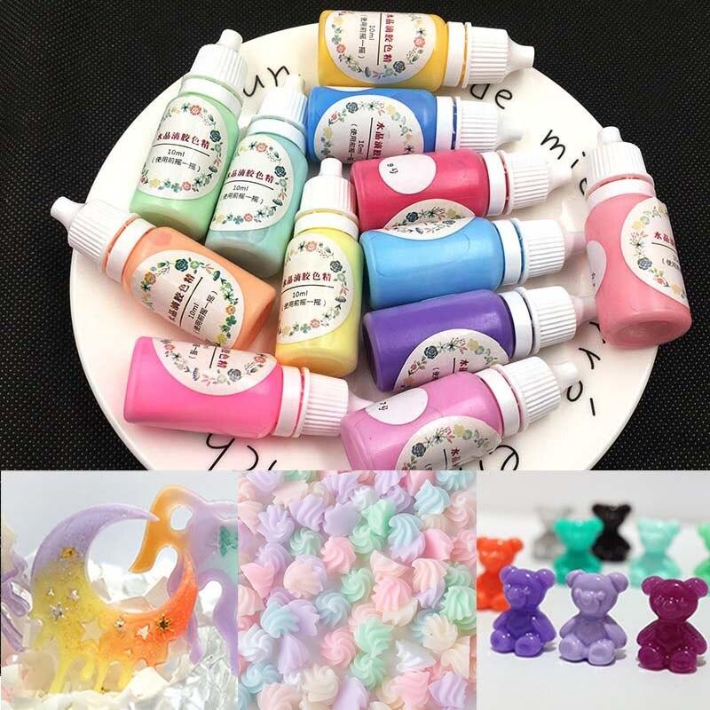 10ML Epoxy Resin Pigment UV Resin Coloring Dye Colorant Resin Pigment DIY Handmade Crafts Art Sets 12 Colorsg Craft LL@17