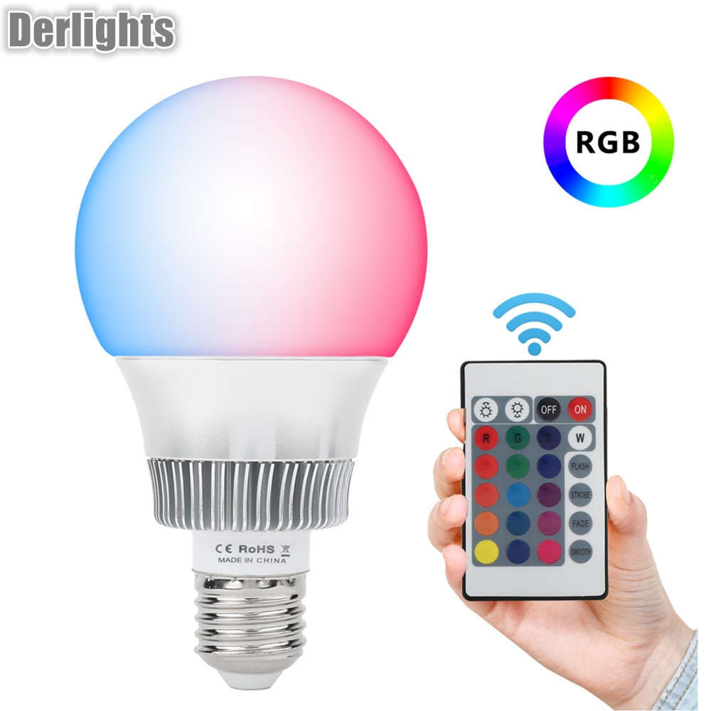Colorful E27/E14 10W 5W RGB LED Bulb Light Stage Lamp with Remote Control Led Lights AC85-265V RGB Lighting 5w 10w rgb rgbw led ceiling panel light ac85 265v embedded recessed downlight bulb changable with 24 key remote control