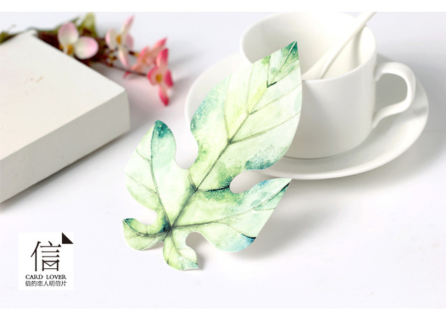 lovers of the letter a leaf stationery painted leaves creative
