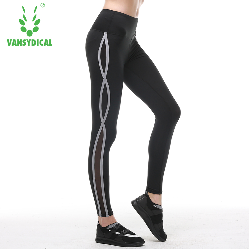 Running Tights Women Fitness Compression Running Pants Yoga Pants Elastic Sports Exercise Female Gym Slim Leggings