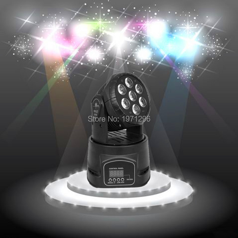 ФОТО 10 pieces/lot LED moving head mini wash 7x12w rgbw quad with advanced 14 channels  DJ Disco Party Stage Effect Lighting