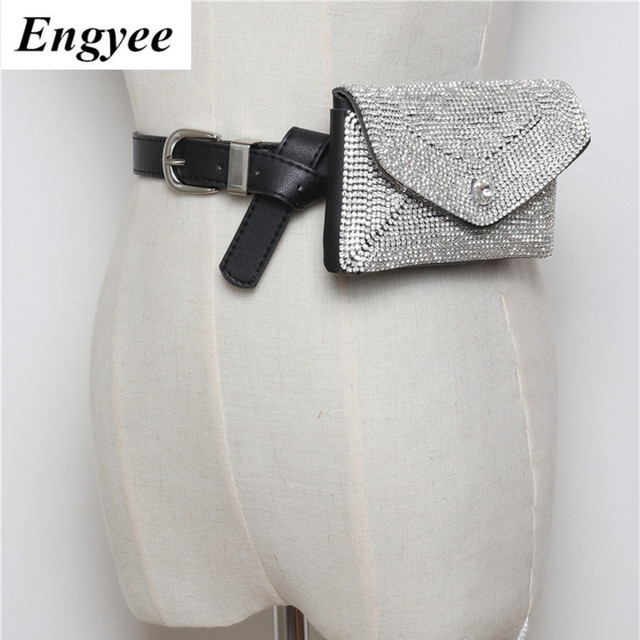 Engyee New Vintage Women Belt Bag Fashion Lady's Tassel Waist Leather Women Bags Pack Femal Phone Pouch Small Waist Pack Bag