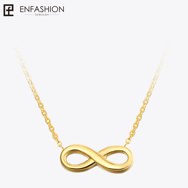 Fashion infinity necklace women pendant necklace rose gold color