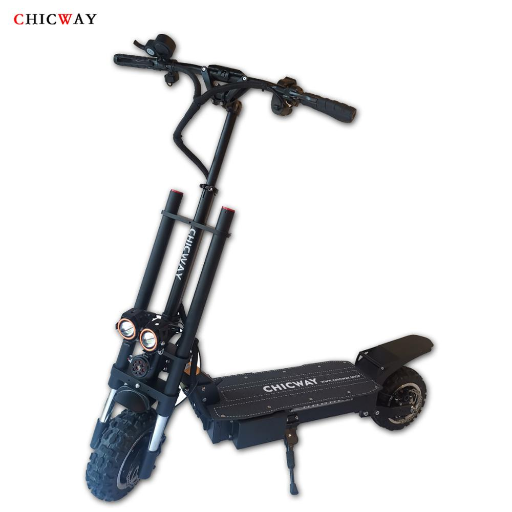 CHICWAY Batman electric <font><b>scooter</b></font> 11 inch independent hydraulic shock absorber Dual motor drive oil brake <font><b>3200W</b></font> 35AH speed 80km/h+ image