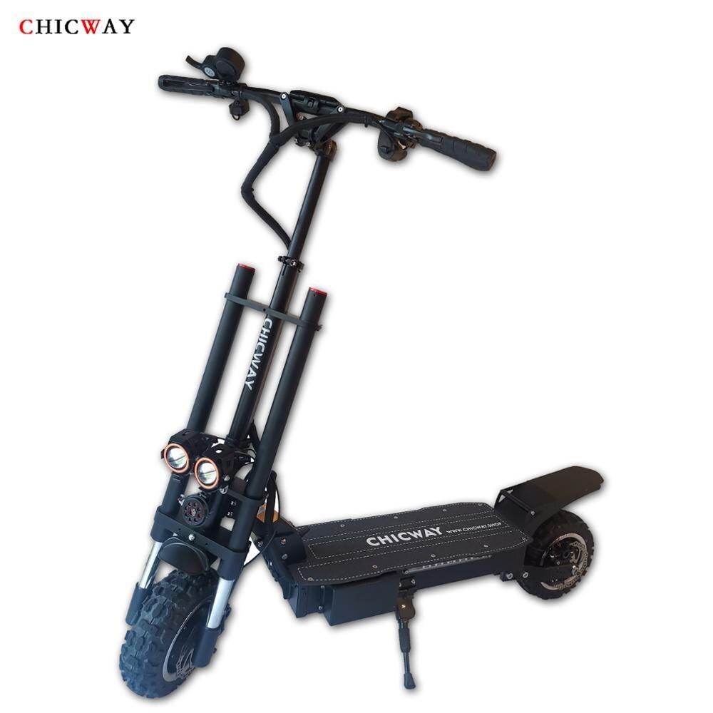 CHICWAY Batman scooter électrique 11 pouces amortisseur hydraulique indépendant double moteur entraînement frein à huile 3200 W 35AH vitesse 80 km/h +