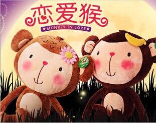 80 cm Couple jouet singe poupée animaux en peluche jouet le meilleur cadeau à un amoureux livraison gratuite
