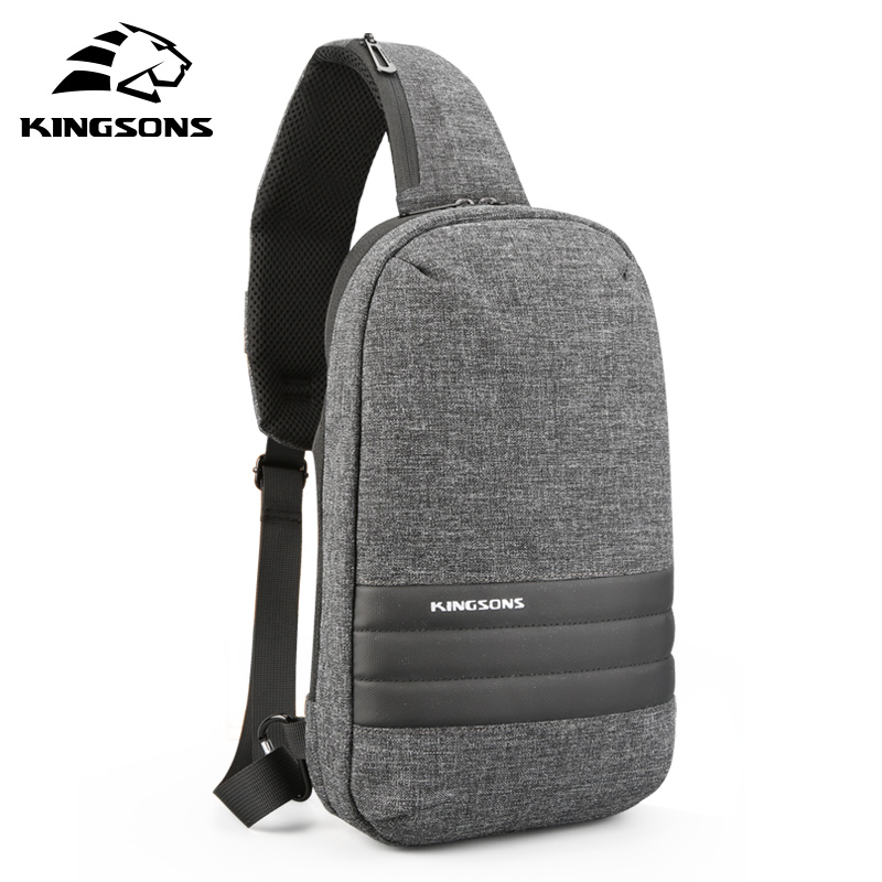 Kingsons Men Chest Bag Single Shoulder Back pack Men's Crossbody Bags Casual Messenger Small Bag For Travel man canvas chest bag fashion messenger casual travel chest bag back pack men s single shoulder bags small travel chest pack