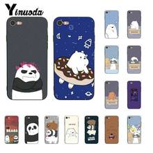 Yinuoda Lovely Cartoon We Bare Bears Luxury Unique PhoneCase for iPhone 8 7 6 6S 6Plus X XS MAX 5 5S SE XR 10 11 11pro 11promax