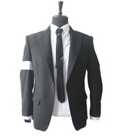 Michael Jackson Cosplay MJ Cos Child Adult Custom Made Costume Dangerous Jacket Black Color