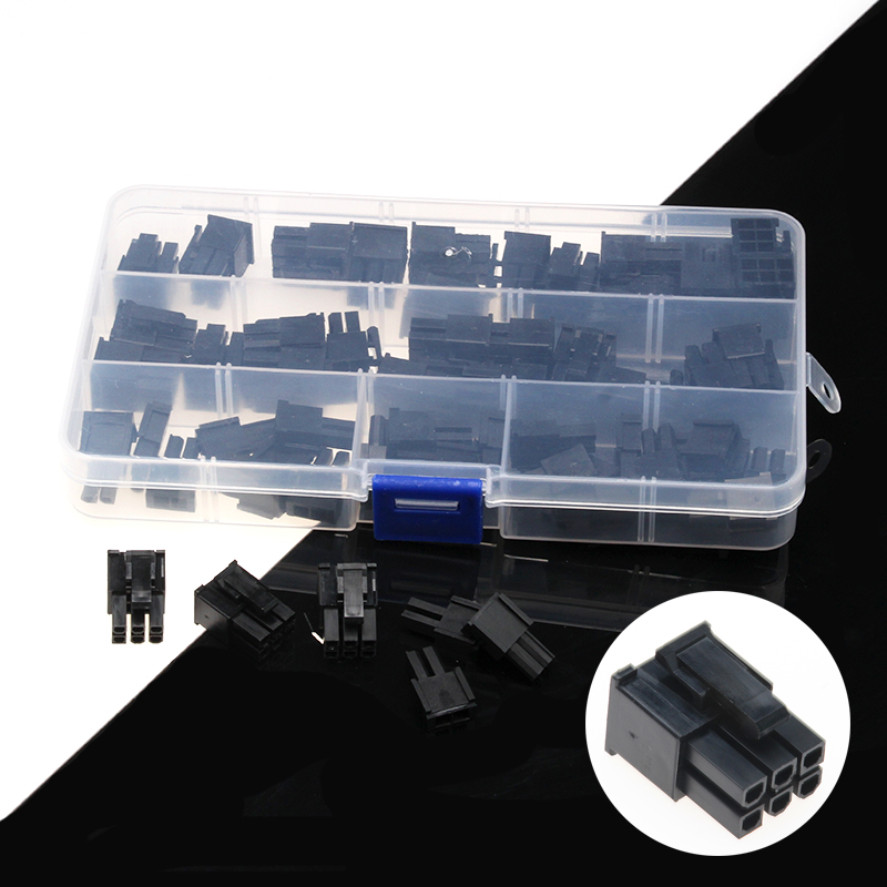30Pcs Socket 4.2mm Plastic Dupont Terminals Wire Cable Jumper Plug Housing Female Connector Adaptor Assortment Kit with Box lson female to female breadboard jumper dupont cable white black red blue yellow 28 pcs
