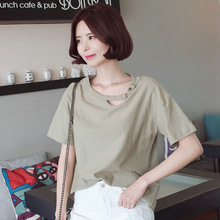 2018 Sexy Summer Basic T-Shirts Women O-Neck Cotton Short Sleeve Tee Shirt Femme All-Match Solid Casual Tops Black T Shirt T fashion ice silk all match o neck short sleeve t shirts summer new arrivals knitting bottoming fitness european style tops 1610