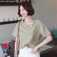купить 2018 Sexy Summer Basic T-Shirts Women O-Neck Cotton Short Sleeve Tee Shirt Femme All-Match Solid Casual Tops Black T Shirt T онлайн