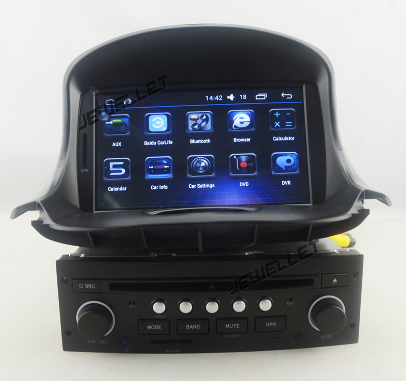 Quad-core Android 6.0 Car DVD GPS radio Navigation for <font><b>Peugeot</b></font> <font><b>206</b></font> 2004-2008 with 4G/Wifi DVR OBD mirror link 1080P image