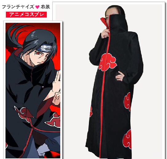 halloween costumes Naruto anime costume akatsuki cloak clothes cosplay dawn Organization for adult men