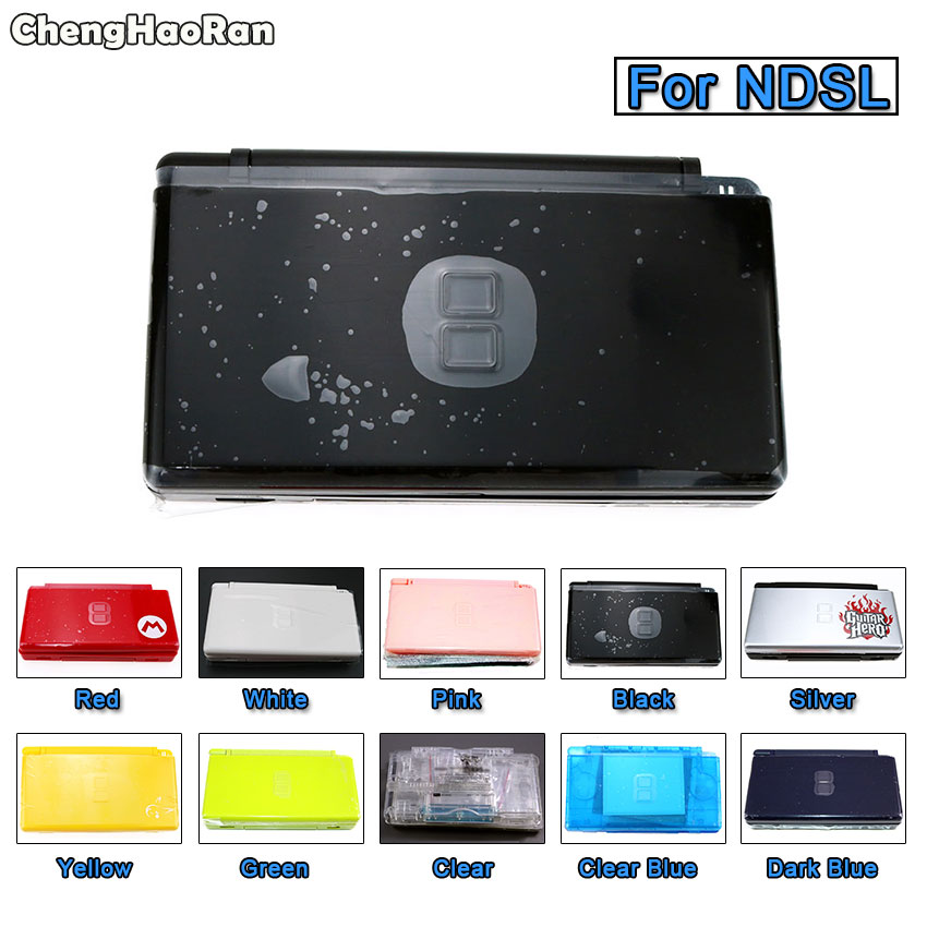 ChengHaoRan Housing Shell Cover Case Full Set with Buttons Screws Kit Replacement For Nintendo DS Lite NDSL Game Console