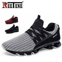 Reetene/летние мужские кроссовки; модная весенняя Уличная обувь; мужская повседневная мужская обувь; удобная сетчатая обувь для мужчин; размер...