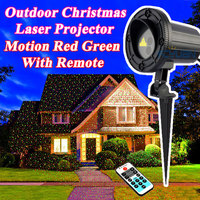 Waterproof Holiday Light Outdoor Christmas Laser Projector Fairy Lights Motion Red Green Mix With Remote Decorations For Home