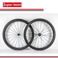 2016 Hot sale 700c carbon clincher rims 50mm UD matte cycling wheelset carbon bicycle parts