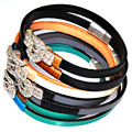 Crystal buckle genuine leather double wrap bracelets,wrapped Bracelets,multi wrapped bracelets,wristlet,random mixed color
