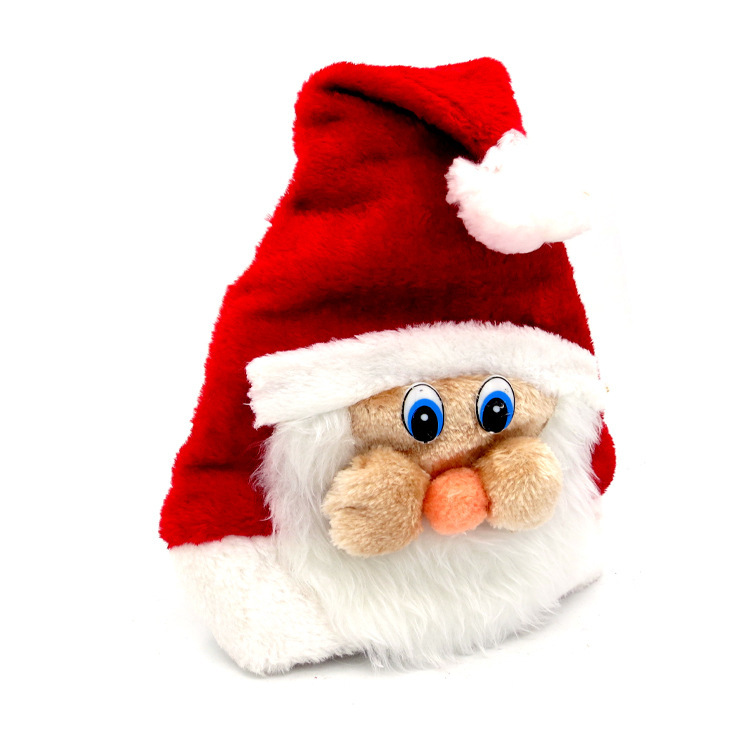 2174ceb206523 Christmas Hat For Kids Adult Cute Cartoon Children Santa Claus Hats  Christmas Father Caps Adult Plush Cap Christmas Decorations-in Christmas  Hats from Home ...