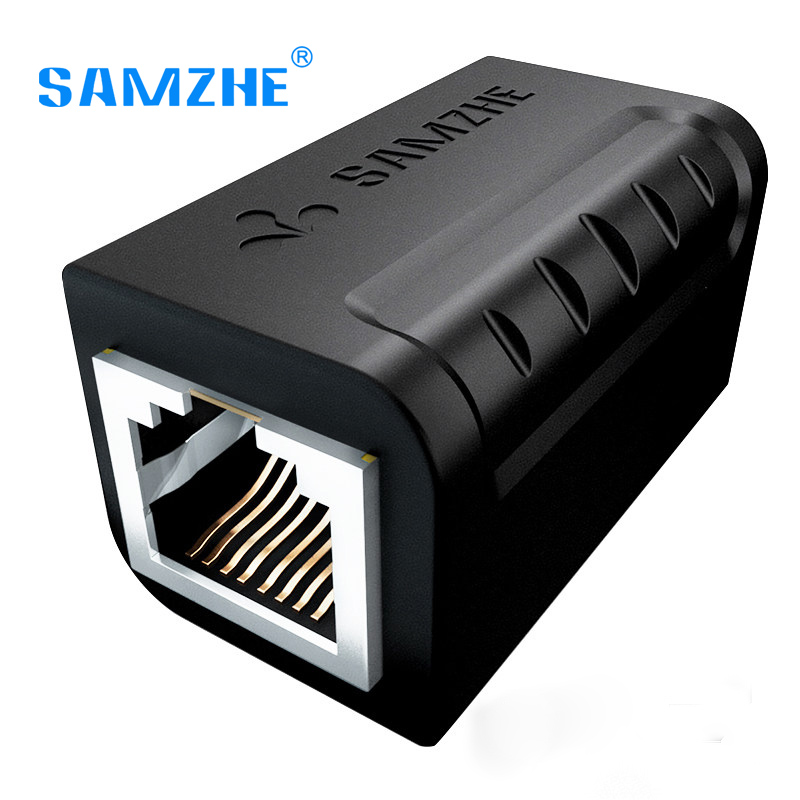 SAMZHE Ethernet Cable Adapter 8P8C RJ45 Lan Cable Extension Connector for Internet Connection Female to Female lan ethernet network rj45 1 male to 3 female connector splitter adapter cable h029