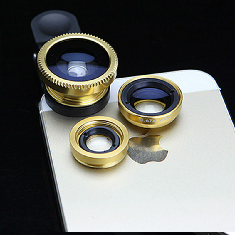 For BQ Aquaris M5 M4.5 M5.5 X5 A4.5 E4 E4.5 E5 E6 Fisheye lenses Fish Eye Wide Angle 3 in 1 Mobile Phone Lens Camera kit
