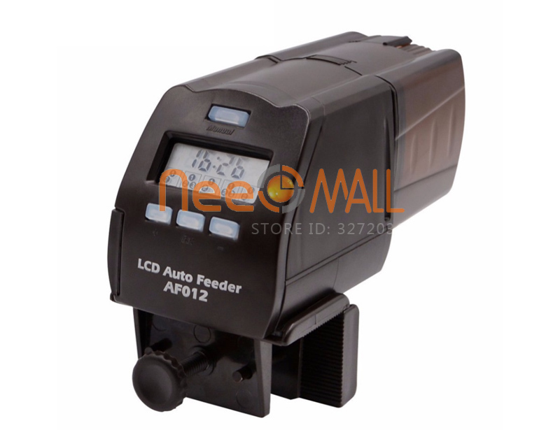 Digital LCD Automatic Fish Feeder Aquarium Tank Pond Auto Fish Feeder Timer Food Feeder Timer Capacity Adjustable