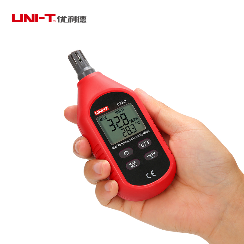 UNI-T UT333 Mini Temperature Humidity Meter Indoor Outdoor Hygrometer Overload Indication Unit Conversion LCD with Backlight mini digital lcd thermometer humidity meter gauge hygrometer indoor