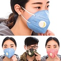 1 Piece Unisex Face Mask Anti-Dust Mouth Mask Motorcycle Respirator Health Mask with Circular Breathing Valve