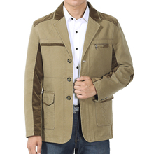 Spring and autumn male single-breasted jackets mens outerwear 100% cotton quinquagenarian men's clothing thin casual coat men