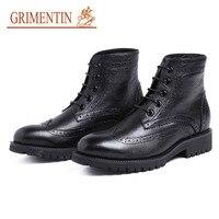 GRIMNTIN/мужские ботинки из натуральной кожи в британском стиле; обувь в деловом стиле