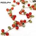 RN-0331 Ювелирные Изделия Для Женщин Корейской Моды Винограда Красная Вишня Ожерелье