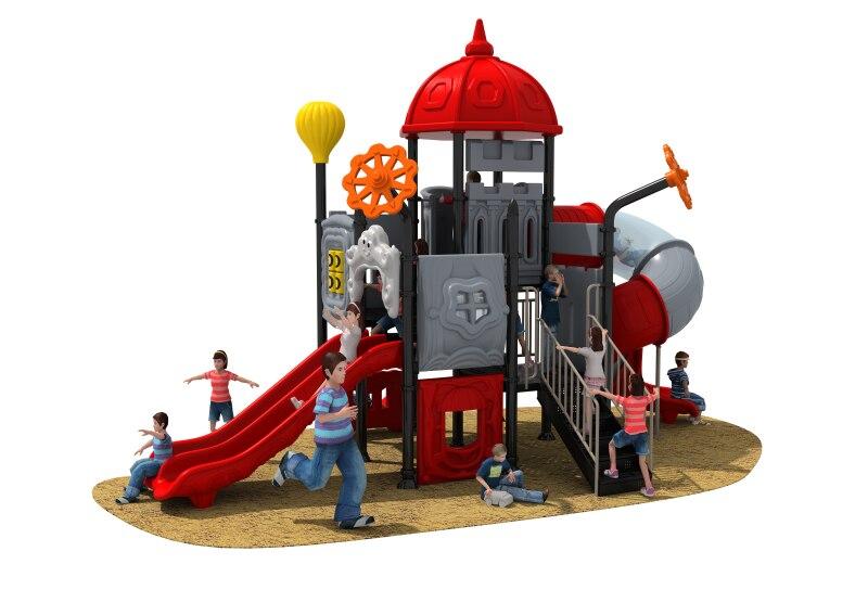 Parc de plage en plastique toboggan structure de jeu anti-corrosion environnement enfants jouets drôle en plastique aire de jeux diapositives YLW-OUT180333