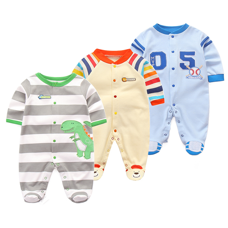 0-12M Baby   Rompers   Newborn Embroidery Cartoon Bear Clothes   Romper   Long Sleeve Jumpsuit Autumn Overalls Girl Clothes 2018 Pajamas