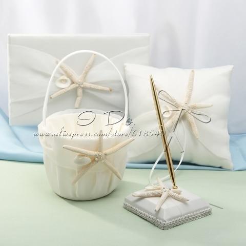Free Shipping Ivory Starfish Beach Themed Collection Set Beach Wedding Decorations Wedding Supplies Decoracao Casamento