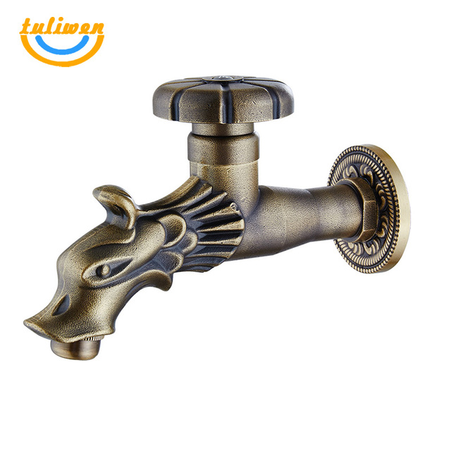 Dragon Water Faucet Outdoor Garden Cold Water Tap Laundry Bathroom