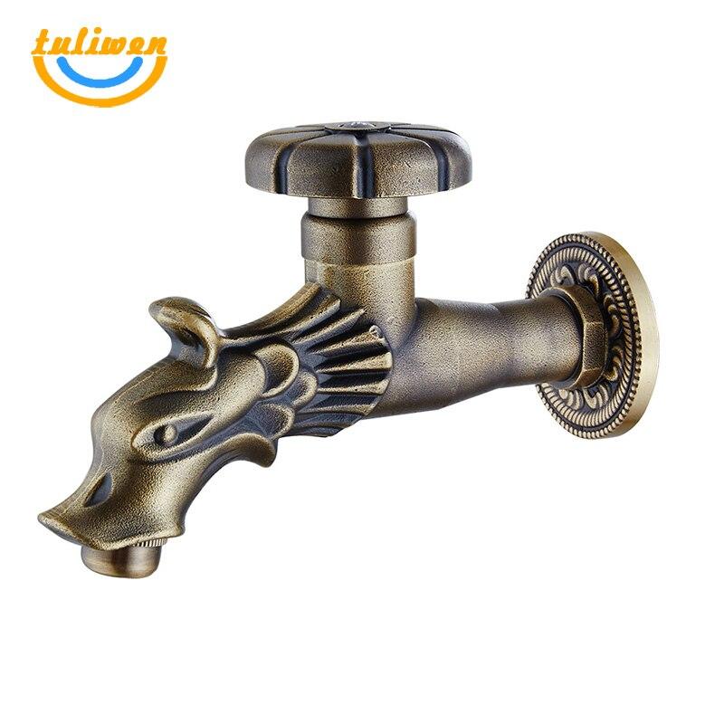 Dragon robinet d'eau jardin extérieur robinet d'eau froide buanderie salle de bain salle de bain cuisine mural évier robinet robinet robinet robinet Bibcocks