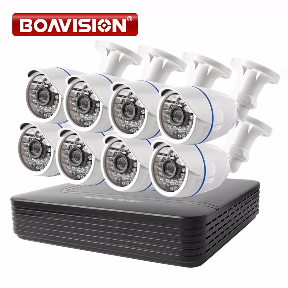 BOAVISION Security CCTV Camera System 8CH DVR Kit 1200TVL 720P 8 Channel CCTV DVR Kit IR