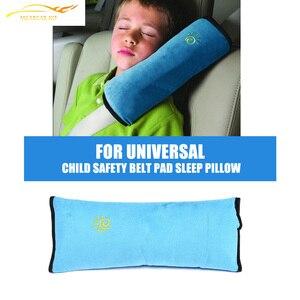 Kind Veiligheid Autogordel Pad Strap Harness Schouder Slaap Kussen Kussen FAUX suede slaap kussen voor Kinderen(China)