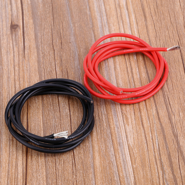 14AWG Flexible Silicone Wire Cable Soft HighTemperature Tinned copper UL 1M Silicone Rubber Wire High Quality Wire Cable