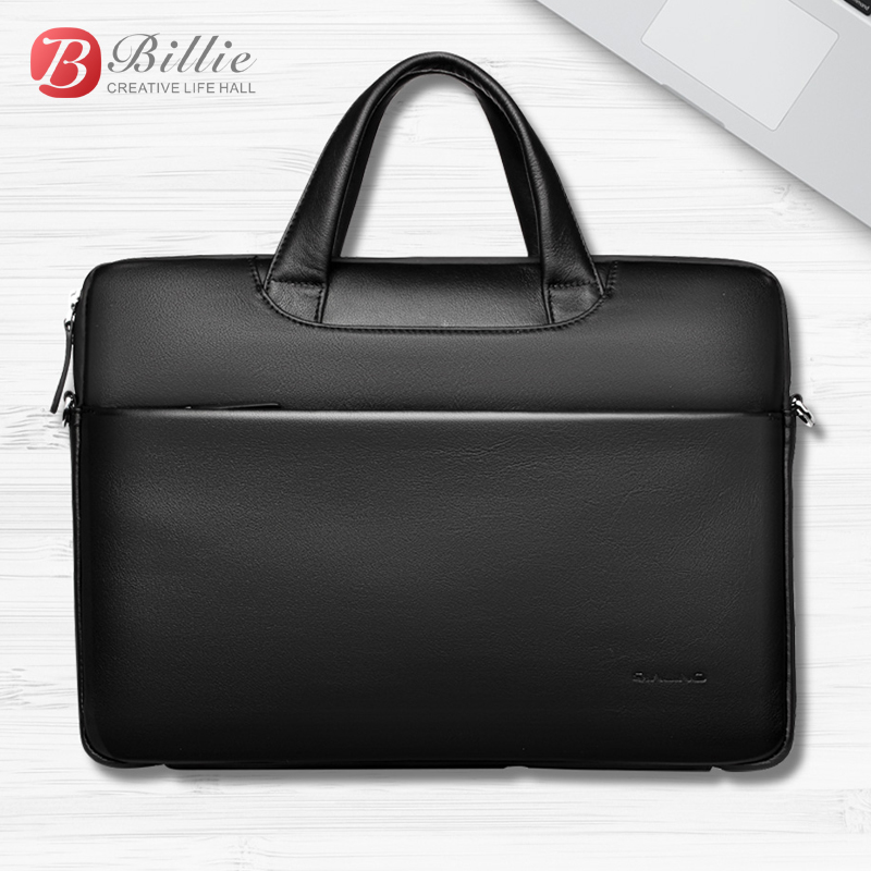 """Image 4 - Laptop bag case For Macbook Asus lenovo 13""""15"""" Deluxe Genuine Men's Briefcase High Quality handbag computer bags Notebook bags-in Laptop Bags & Cases from Computer & Office"""