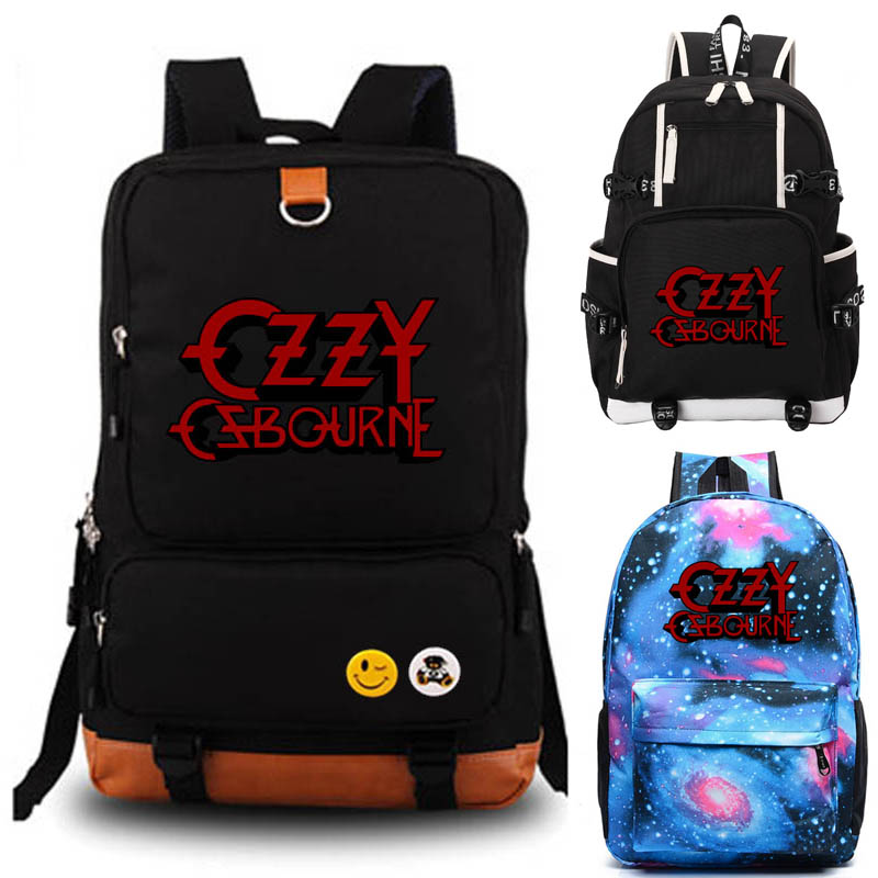Ozzy Osbourne band backpack The Great Ozz student school bag Notebook backpack Daily backpack travel rucksack outdoor bag