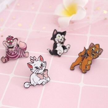 Милые брошки мультяшных котиков 1