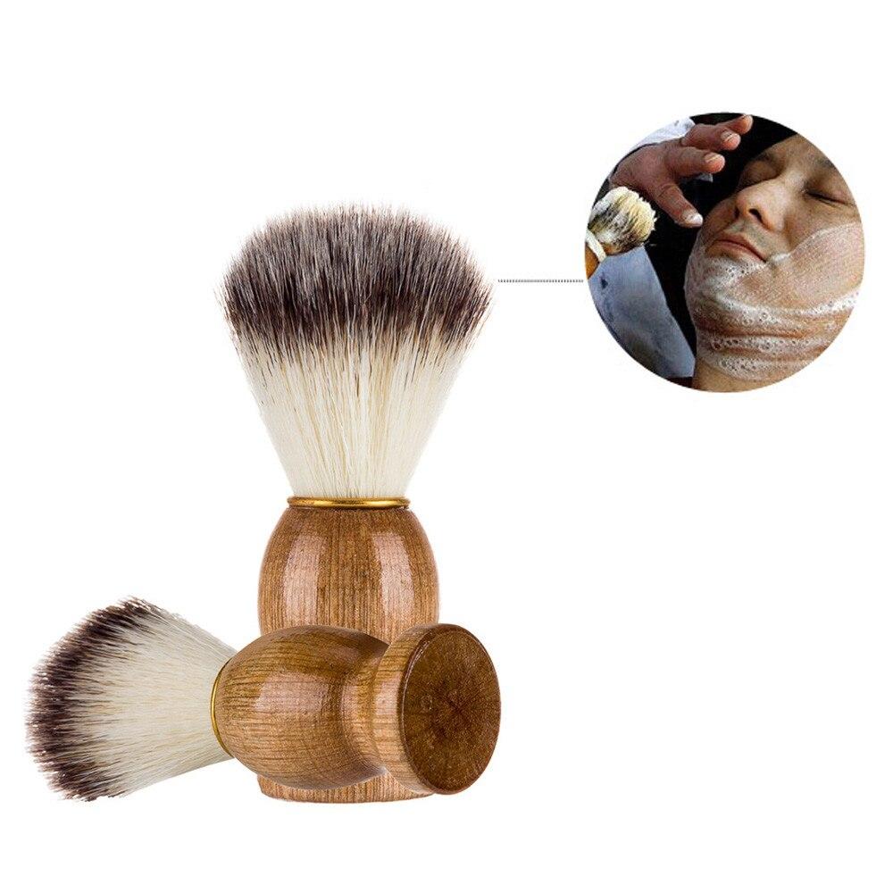 Makeup BrushesMen Shaving Bear Brush Best Badger Hair Shave Wood Handle Razor Barber Tool Shaving Brush Dropshipping