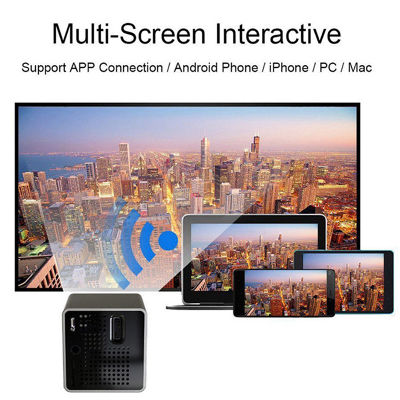 1080P FHD P1+ DLP Wifi LED Mini Pocket Projector Home Theater Multimedia USB/TF High Quality вытяжка gorenje whc923e16x